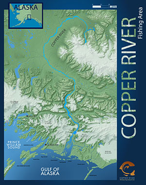 Map of Copper River Fishing Area
