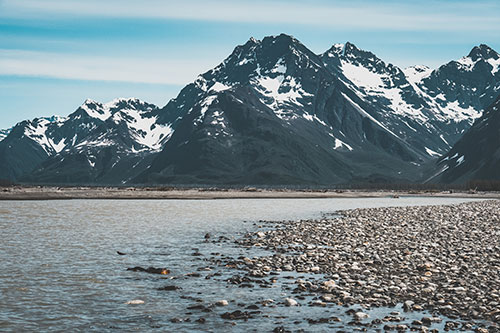 View of Mountains Near Copper River